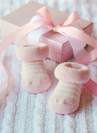 Pink shoes for newly born baby girl