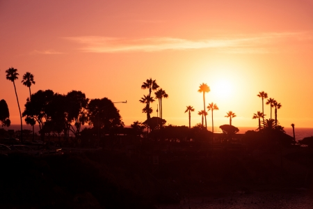 Beautiful sunset in La Jolla, California