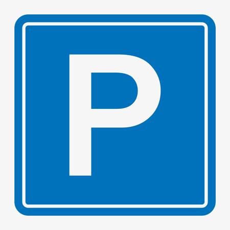 Straat / verkeersbord: parkeerterrein.