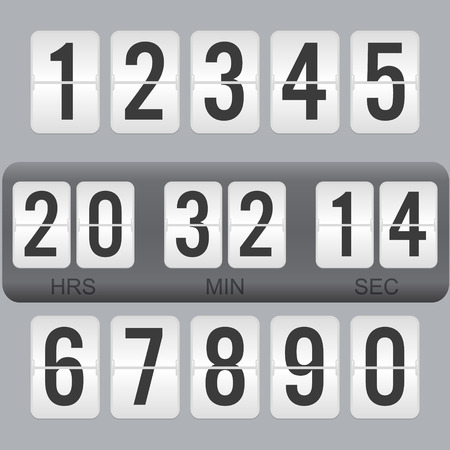 Flip Countdown Timer Vector Clock Counter. Flat Count Down Day ...