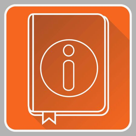 User guide book thin line flat Icon isolated on the white background.