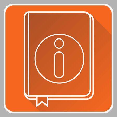 User guide book dunne lijn platte pictogram geïsoleerd op de witte achtergrond.