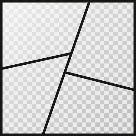 cadres de photos de vecteur de photos isolé sur un fond transparent .