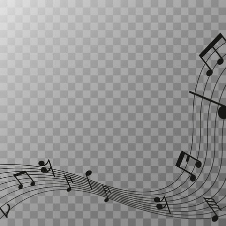 Music Note on transparent background