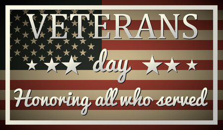 Veterans day graphic design. vector illustration.