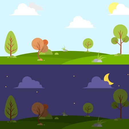 태양, 달, 언덕, 스타, 구름, 날씨 애플 리 케이 션, 사용자 인터페이스 디자인 주야 프리 그림.