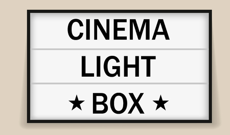 Cinema or theater light box frame for ads