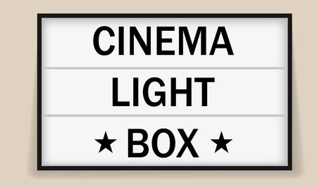 Frame voor bioscoop- of theaterlichtbak voor advertenties
