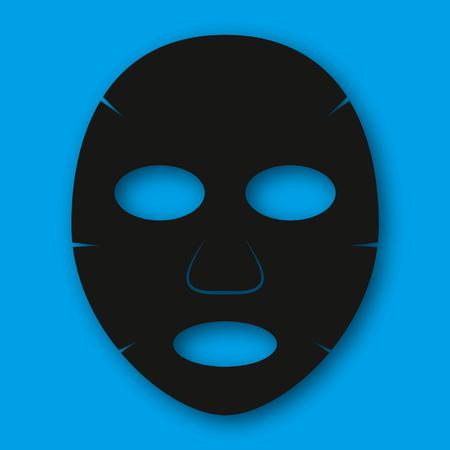 Maschera facciale dello strato isolata su fondo blu.