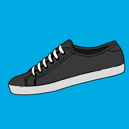 Shoes for running vector illustration.