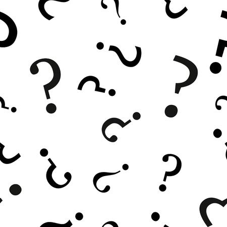 Question mark seamless pattern  Vector seamless pattern with question marks. Ilustração