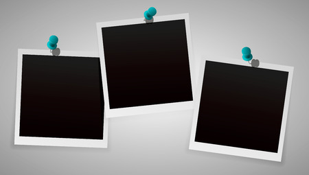Photo Frames with Pin Isolated on background. Vector EPS 10.