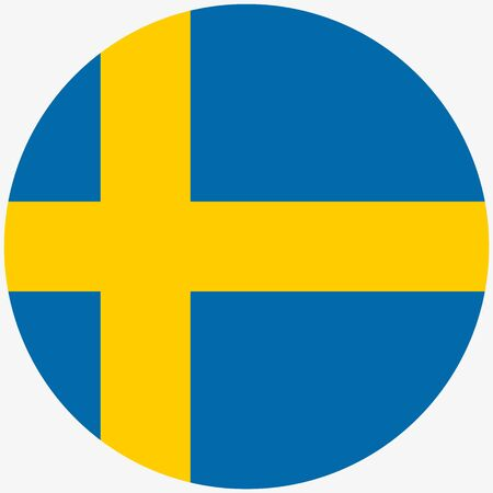 Sweden flag icon, Round sweden flag icon Vector illustration Vectores
