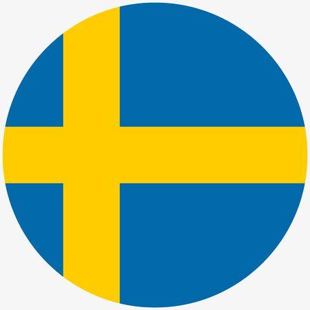 Sweden flag icon, Round sweden flag icon Vector illustration 向量圖像