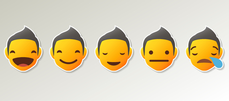Set of Emoji Colored Flat Icons. Vector Set of Emoticons. Ilustrace
