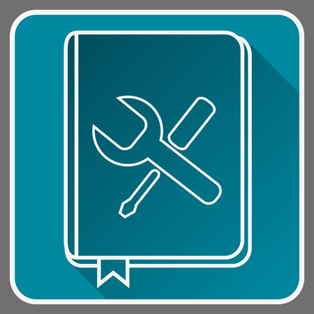 User Guide Book Thin Line Vector Icon. Flat icon isolated on the background.