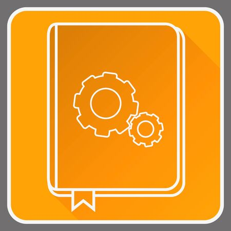 User guide book thin line vector icon. Flat icon isolated on the background, editable vector illustration.
