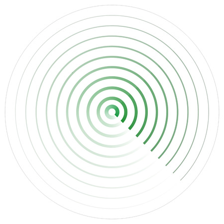 Radar screen icon. Vector illustration isolated on white background.