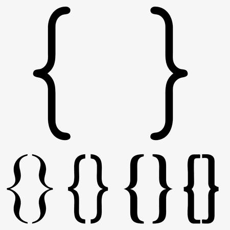 Bracket icon set. Web element. Premium quality graphic design. Signs symbols collection, simple icon for websites, web design, mobile app, info graphics on white background 版權商用圖片 - 99463322