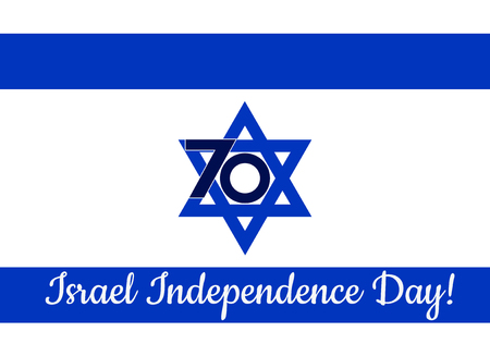 Israel Independence Day white background. Vector illustration.