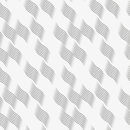 vector pattern with geometric waves. Endless stylish texture. Ripple monochrome background. pattern is on swatches panel Illustration