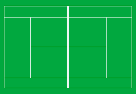 Tennis court Tennis court with grass. Top view. Vector