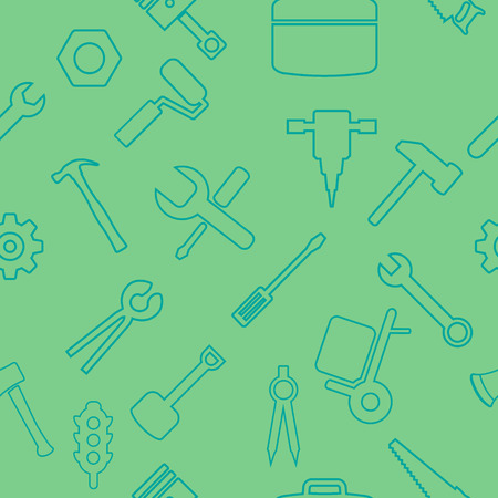 Different industrial equipment. Vector tools seamless pattern. Illustration