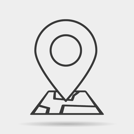 Map icon line symbol. Premium quality isolated route element in trendy style  イラスト・ベクター素材