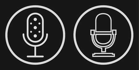 Microphone Icon vector flat design. Vector illustration for your graphic design.