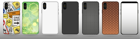 Set case for phone vector illustration. Illustration