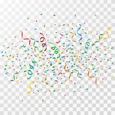 Colorful confetti background explosion vector