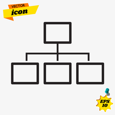 Icon server and local network Illustration