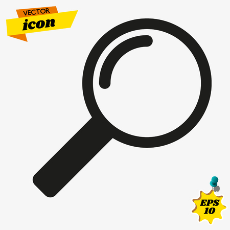 search icon. magnify icon symbol vector. on white background editable eps10
