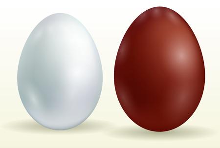 Black and white eggs on white background - vector illustration Vettoriali