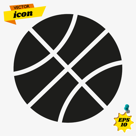 ball icon on white background, vector symbol Illustration