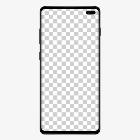 Phone case template mock up. vector illustration.