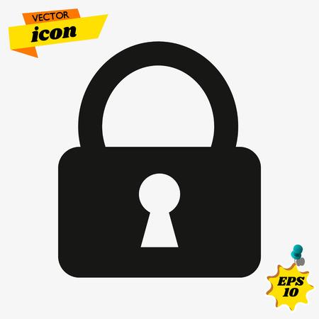 Lock, icon, padlock. Lock, icon vector. Imagens - 119616533