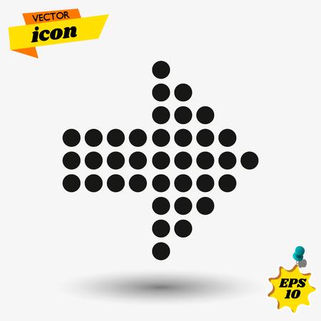 arow flat icon illustration. arow isolated sign. arow vector illustration. Vektorové ilustrace