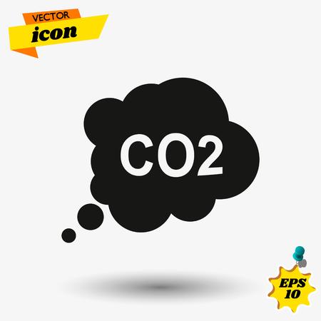 CO2 icon Foto de archivo - 122492350