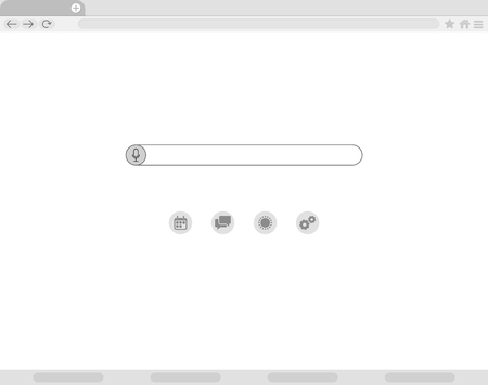Simple browser window, flat vector. Browser Window Flat Vector Icon Window Internet browser. Simple, flat style. Graphic vector illustration