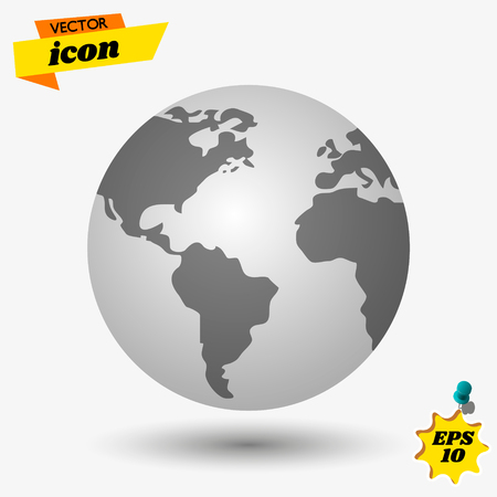 world icon for your web site design, logo, app, UI. Vector illustration, EPS10. Vector illustration