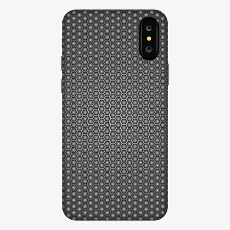 hexagon cover smartphone on abstract background. case for phone, vector illustration. case mockup