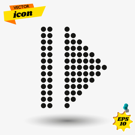 arow flat icon illustration. arow isolated sign. arow vector illustration. Çizim