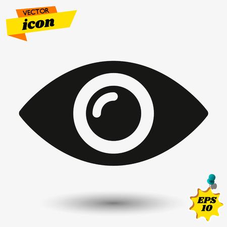 eye icon vector, on white background editable eps10.