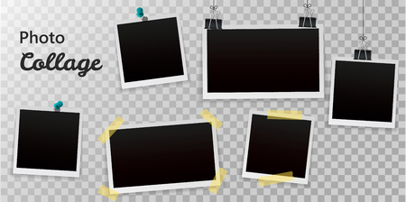 Photo Frame Big Set With Transparent Background With Gradient Mesh, Vector Illustration