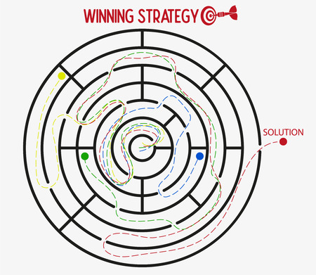 Business strategy target execution force. Winning strategy in business concept.