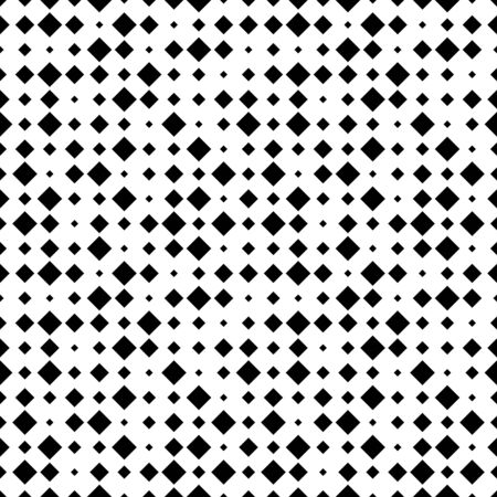 Abstract geometric pattern with small and large rhombuses. Design element for web banners, posters, cards, wallpapers, backdrops, panels Black and white color Vector illustration