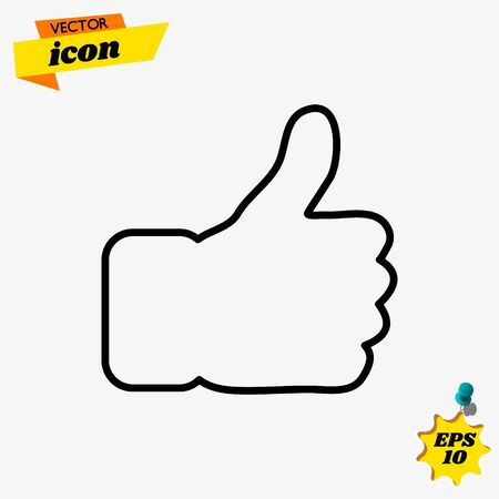 Like line icon vector icon for apps and websites. Like line vector.