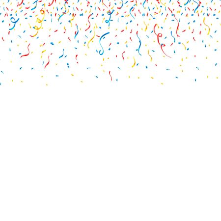 colorful confetti Celebration carnival ribbons. luxury greeting rich card Illustration