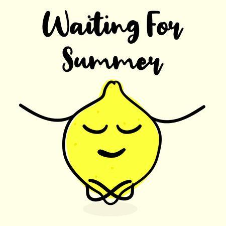 Waiting for summer. Illustration for poster, banner and wallpaper Stock Illustratie